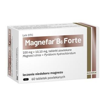 Magnefar B6 Forte, tabletki powlekane, 60 szt.