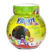 Vibovit Literki, żelki z witaminami, smak owocowy, 50 szt.