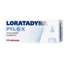 Loratadyna Pylox, 10 mg, tabletki, 10 szt.
