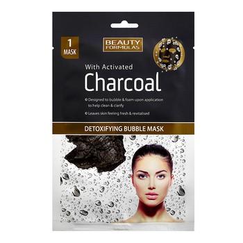 Beauty Formulas, detoksykująca maseczka bąbelkowa z aktywnym węglem, 1 szt