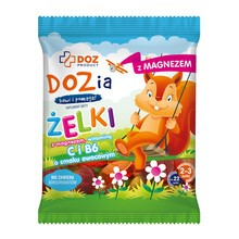 DOZ PRODUCT Dozia, żelki z magnezem, witaminą C i B6 o smaku owocowym, 100 g