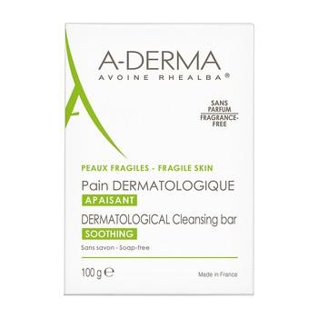 Aderma, oczyszczająca kostka dermatologiczna z wyciągiem z owsa, 100 g