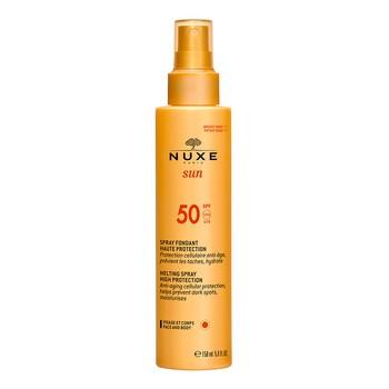 Nuxe Sun, mleczko do opalania do twarzy i ciała, SPF 50, 150 ml