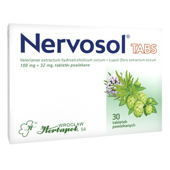 Nervosol Tabs, 100 mg + 32 mg, tabletki powlekane, 30 szt.