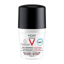 Vichy Homme, antyperspirant w kulce przeciw śladom na ubraniach, 48h, 50 ml