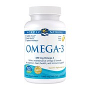 Omega-3, 690 mg, kapsułki, Lemon, 60 szt.