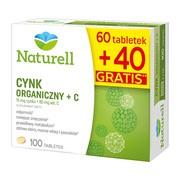 Naturell Cynk Organiczny + C, tabletki, 100 szt.