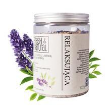Fresh&Natural, relaksująca sól do kąpieli z lawendą i zieloną herbatą, 1000 g