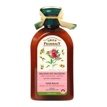 Green Pharmacy, balsam do włosów suchych, olej arganowy i granat, 300 ml