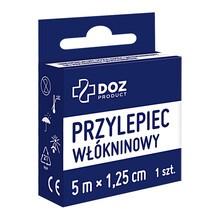 DOZ PRODUCT Uniwersalny przylepiec włókninowy, 5 m x 1,25 cm, 1 szt.