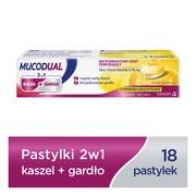 Mucodual 2w1 kaszel + gardło, pastylki, 18 szt.