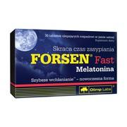 Olimp Forsen Fast Melatonina, tabletki ulegające rozpadowi w jamie ustnej, 30 szt.