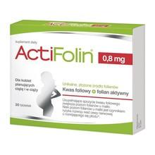 ActiFolin, 0,8 mg, tabletki powlekane, 30 szt.