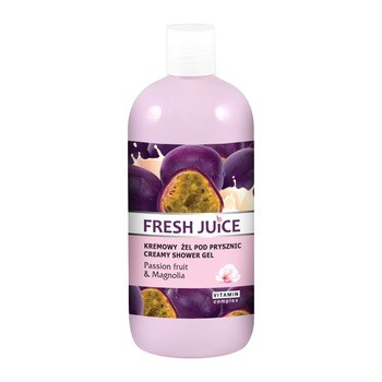 Fresh Juice Passion fruit & Magnolia, kremowy żel pod prysznic, 500 ml
