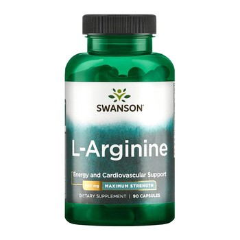 Swanson L-arginina forte, kapsułki, 90 szt.