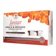 Jantar Medica, kuracja w ampułkach z wyciągiem z bursztynu do włosów zniszczonych, 5 ampułek x 5 ml