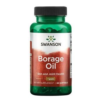 Borage Oil, 1000 mg, kapsułki żelowe, 60 szt.