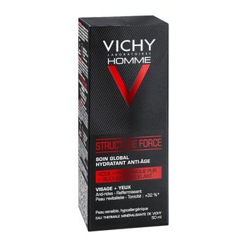 Vichy Homme Structure Force, przeciwzmarszczkowy krem wzmacniający z kwasem hialuronowym, 50 ml