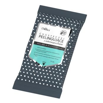 L`Biotica, chusteczki peelingujące z mikrowypustkami, peeling i oczyszczanie, 15 szt.