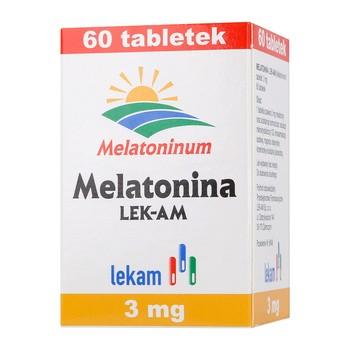 Melatonina, tabletki, 3 mg, (Lek-AM), 60 szt