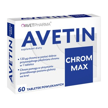 Avetin Chrom Max, tabletki, 60 szt.