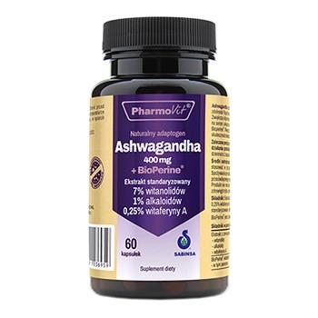 Pharmovit Ashwagandha 400 mg+BioPerine, kaps., 60 szt