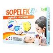 Sopelek 3+, aspirator usuwający wydzielinę z nosa, vaccum, 1 szt.