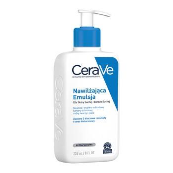 CeraVe, nawilżająca emulsja dla skóry suchej i bardzo suchej, 236 ml