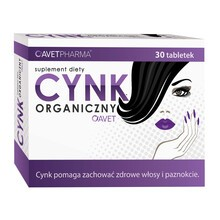 Cynk Organiczny Avet, tabletki, 30 szt.
