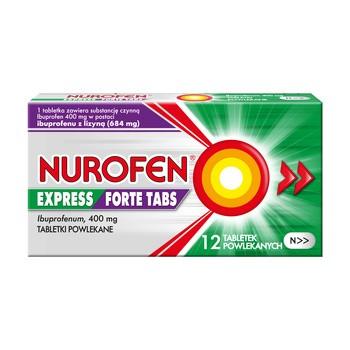 Nurofen Express Forte Tabs, tabletki powlekane, 400 mg, 12 szt.