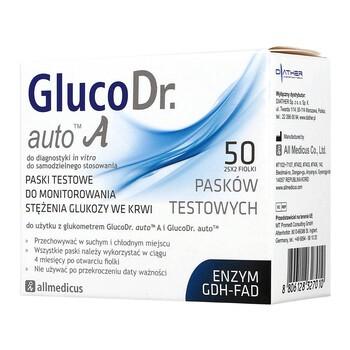 Test paskowy GlucoDr. auto A, 50 pasków