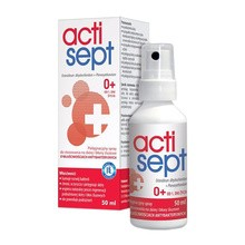 Actisept, pielęgnacyjny spray do stosowania na skórę i błony śluzowe, antybakteryjny, 50 ml