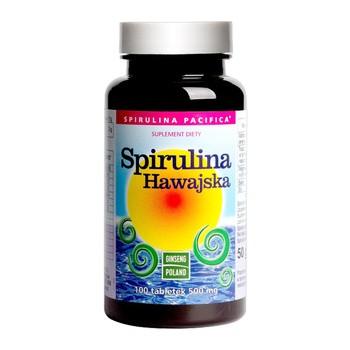 Spirulina Hawajska, 500 mg, tabletki, 100 szt.