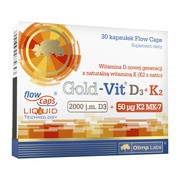 Olimp Gold-Vit D3+K2, 2000 j.m.+50 µg, kapsułki, 30 szt.