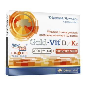 Olimp Gold-Vit D3+K2, 2000 j.m.+50 mcg, kaps., 30 szt