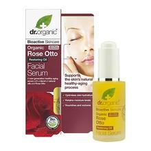 Dr.Organic Rose Otto, serum do twarzy z organicznym olejkiem różanym, 30 ml
