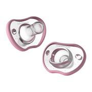 NANOBEBE Smoczek Twin Pack, różowy, 0-3 m, 2 szt.