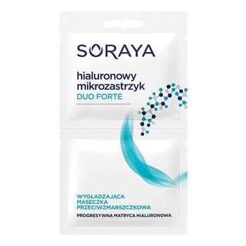Soraya Hialuronowy Mikrozastrzyk Duo Forte, maseczka przeciwzmarszczkowa, 2 x 5 ml