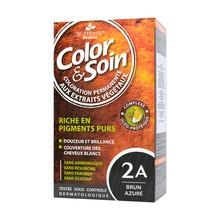 Color&Soin, farba do włosów, odcień lazurowa czerń (2A), 135 ml