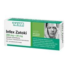Infex Zatoki, 200 mg + 30 mg, tabletki powlekane, 24 szt.