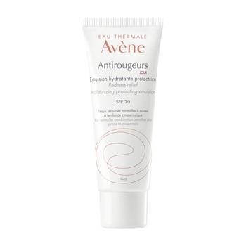 Avene Eau Thermale Antirougeurs, emulsja nawilżająco-ochronna, SPF 20, skóra normalna, mieszana i naczynkowa, 40 ml