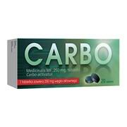 Carbo Medicinalis MF, 250 mg, tabletki, 20 szt.