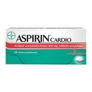Aspirin Cardio, 100 mg, tabletki powlekane, 28 szt.