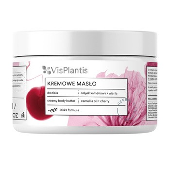 Vis Plantis, kremowe masło do ciała, regenerujące, olejek kameliowy + wiśnia, 250 ml