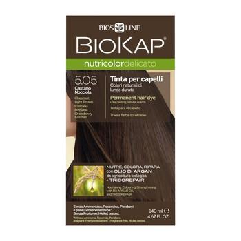 Biokap Nutricolor Delicato, farba do włosów, 5.05 orzechowy kasztan, 140 ml