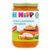 HiPP BIO, kuskus z warzywami i kurczakiem, po 7. miesiącu, 220 g
