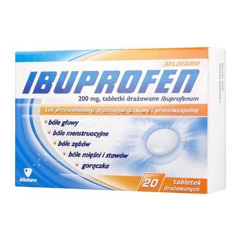 Ibuprofen Aflofarm, 200 mg, tabletki drażowane, 20 szt.