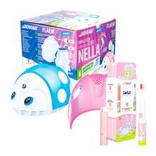 Zestaw Promocyjny Novama Nella by Flaem, inhalator dla dzieci + Vitammy Smile Królik, szczoteczka soniczna dla dzieci