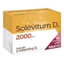 Solevitum D3 2000, kapsułki, 75 szt. (60 szt. + 15 szt.)