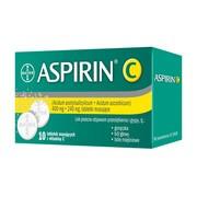 Aspirin C, 400 mg + 240 mg, tabletki musujące, 10 szt.